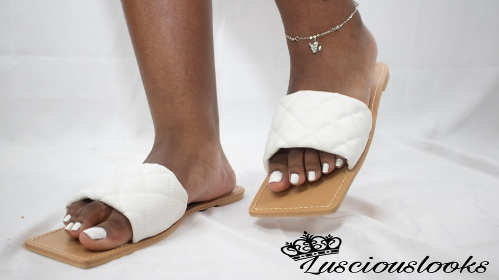 Cutie on Duty White Square Sandals