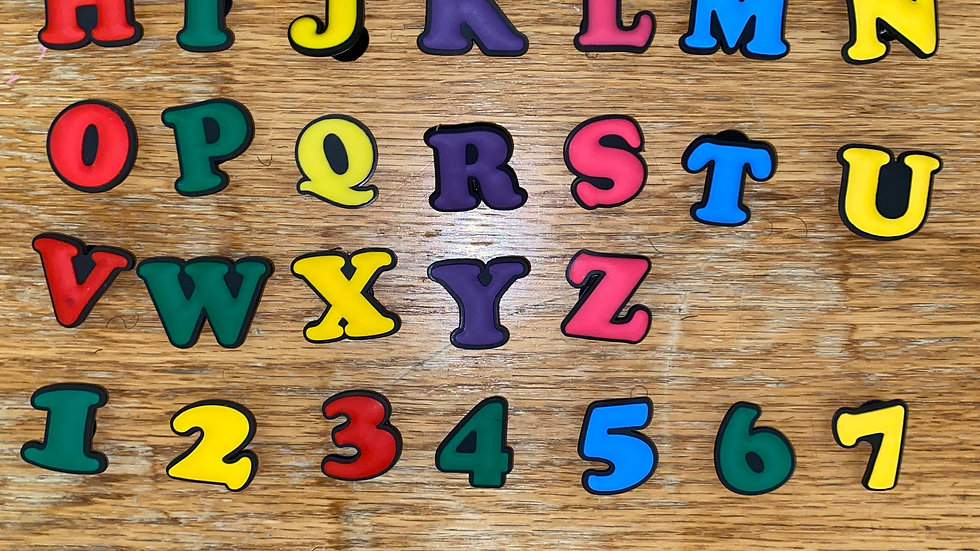 Alphabet & Number Charms