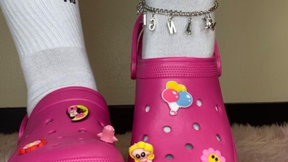 Pink Platform Crocs