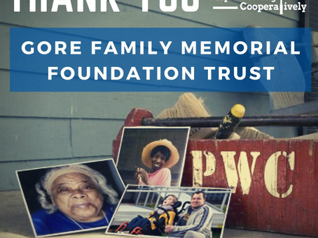 Thank you Gore Family Memorial Foundation Trust!