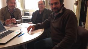 Tiago Malato reuniu com os representantes das duas Centrais Sindicais