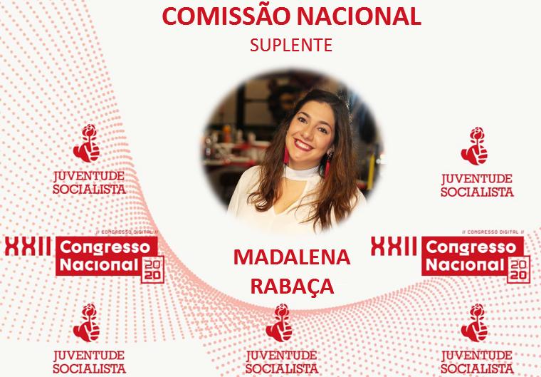 Madalena Rabaça na Comissão Nacional da JS