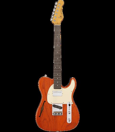 G&L ASAT Classic Bluesboy Semi Hollow - Clear Orange / Palissandre