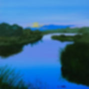 marsh, sunset, Cape Cod, Sippewisset, West Falmouth, evening, blue