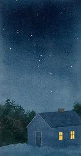 orion, stars, constellations, winter night, snow