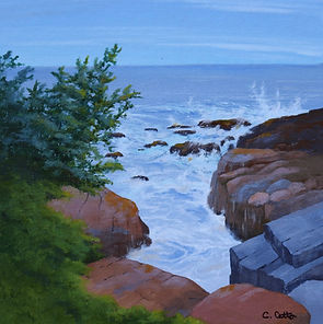 Maine, schoodic, rocky coast, rugged coast