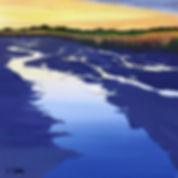 Cape Cod, West Falmouth, marsh, ebbing tide