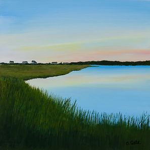 Chappoquoit, West Falmouth, sunset, Cape Cod, marsh,