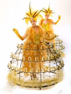 Showgirl champagne skirt duo