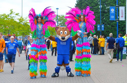 Colourful Stilt-walkers Carnival