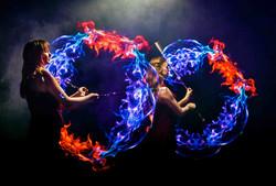 Visual poi flame duo