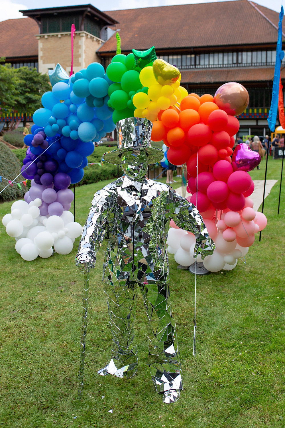 Mirror Man at corporate summer party