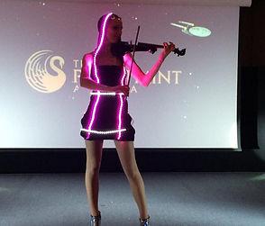 LED Violinist Performance