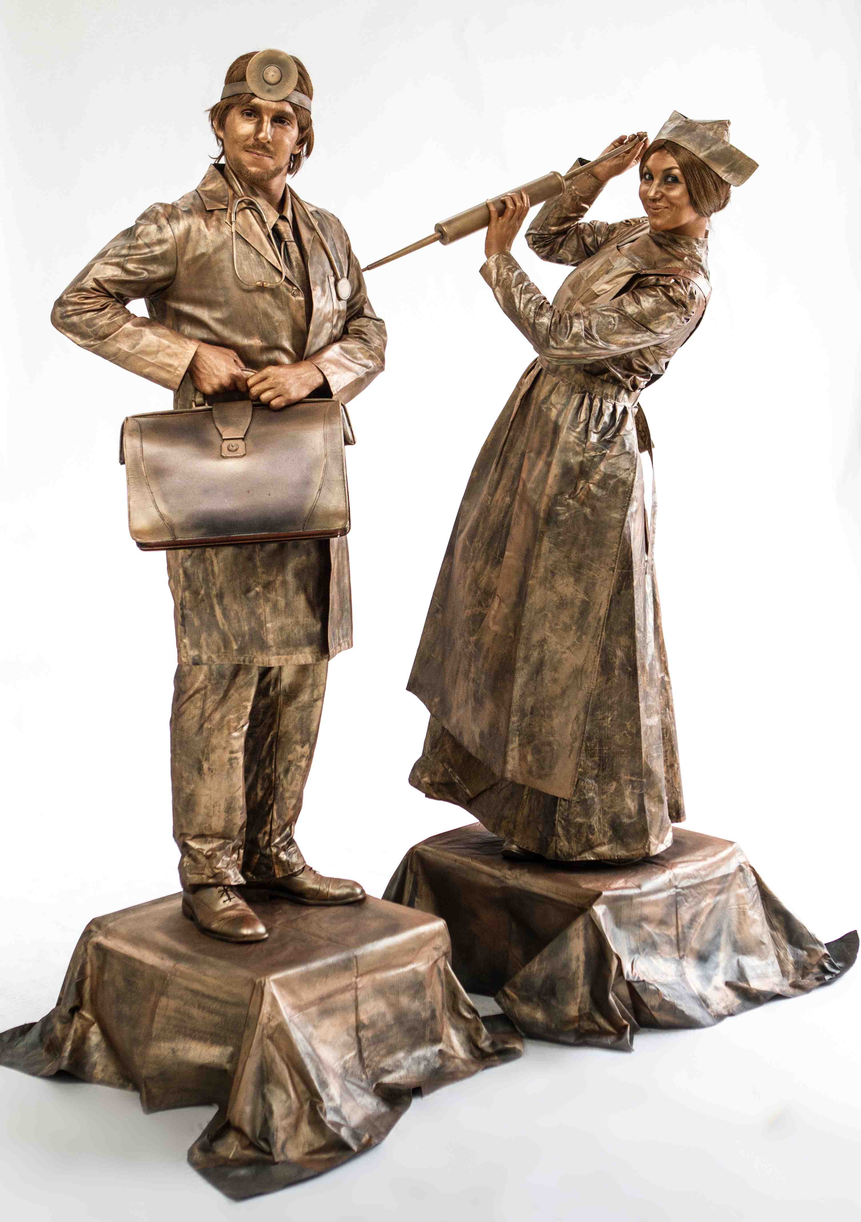 Doctor and Nurse statue