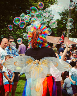 Bubble fairy colourful