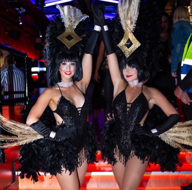 Black & Gold Showgirl