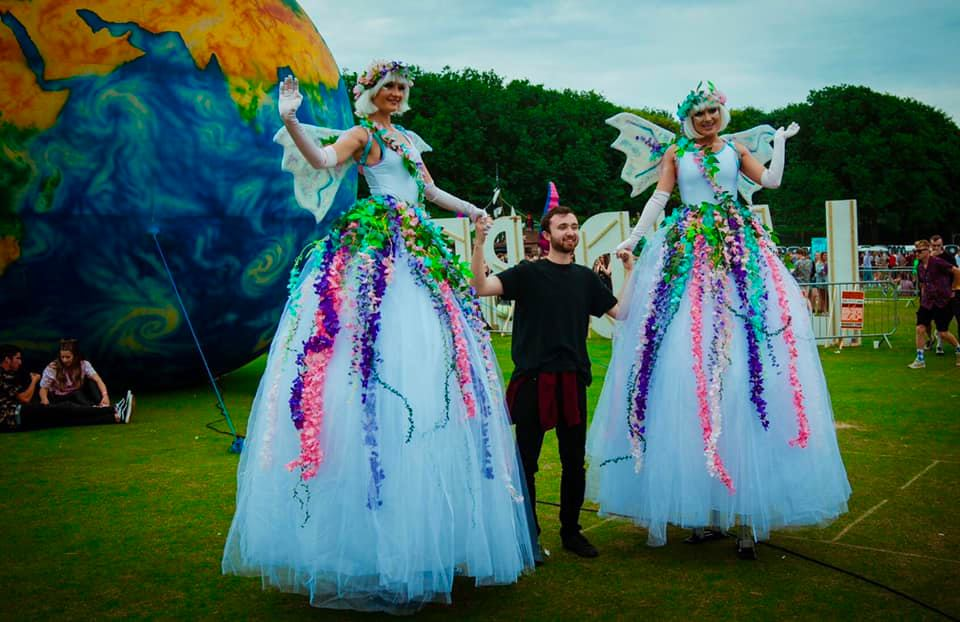 Giant Sparkly Fairy Stiltwalkers
