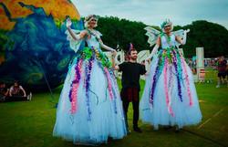 Giant Sparkly Fairy Stiltwalkers