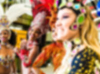 Brazilian women wearing carnival costume