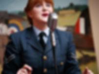 1940s Singer Performing at RAF Base