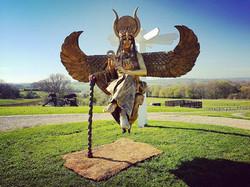 Metallic Gold - Floating Isis statue Tor