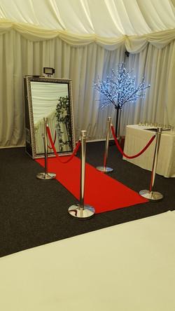 Mirror carpet and Poles