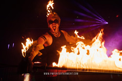 Awesome Fire Performer at Festival