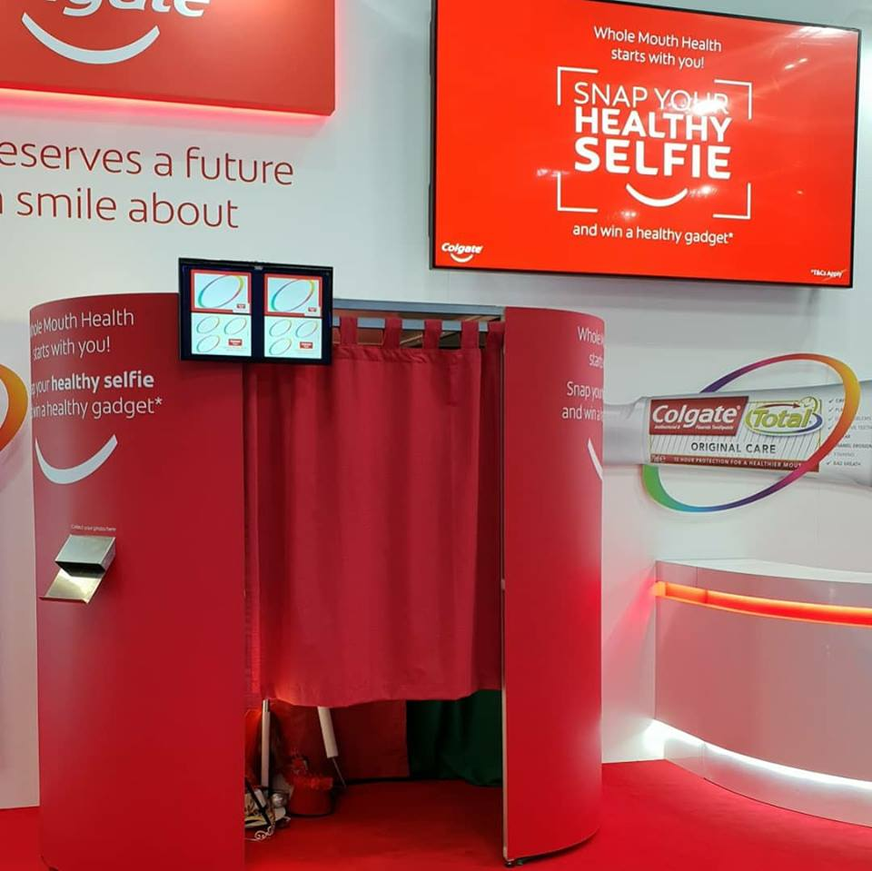 Colgate branded booth