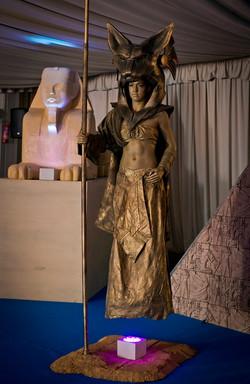 Floating egyptian bastet statue