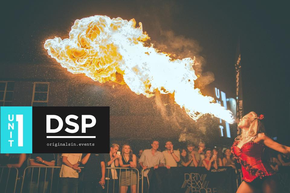 Fire Breather at Fresher's Event