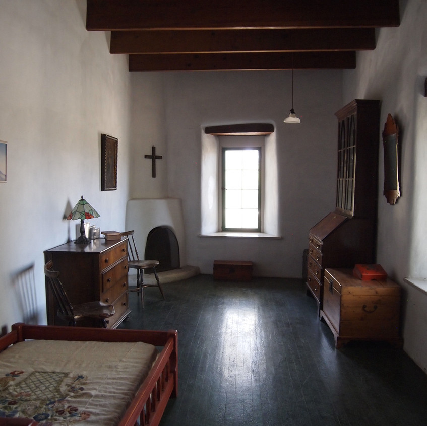 One of the bedrooms in the hacienda