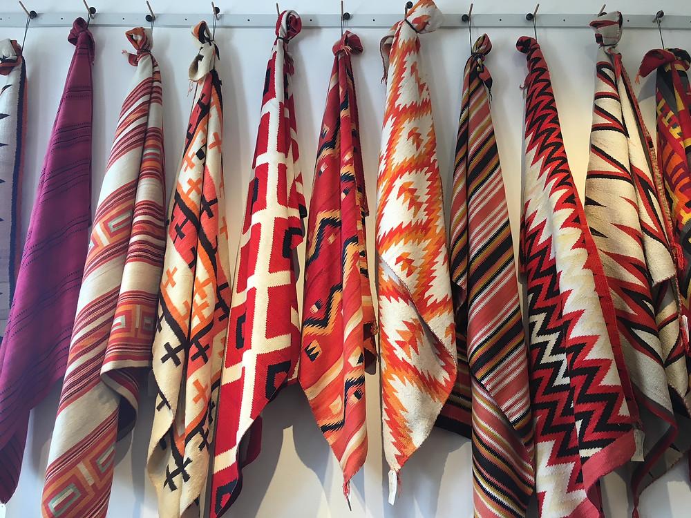 Navajo blankets at Shiprock Gallery