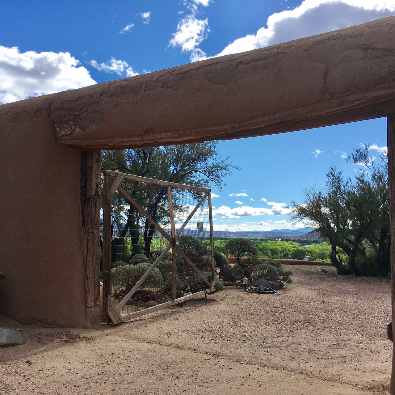 Courtyard entry - the original handcrafted adobe.