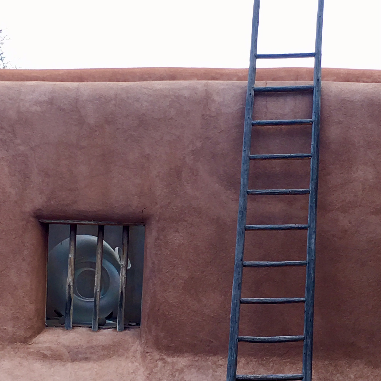 Ladders are a necessity when you have an adobe house!