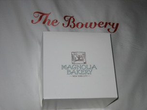 Magnolia Bakery Banana Cake with Chocolate Frosting and Dos Caminos Cheese Fondue