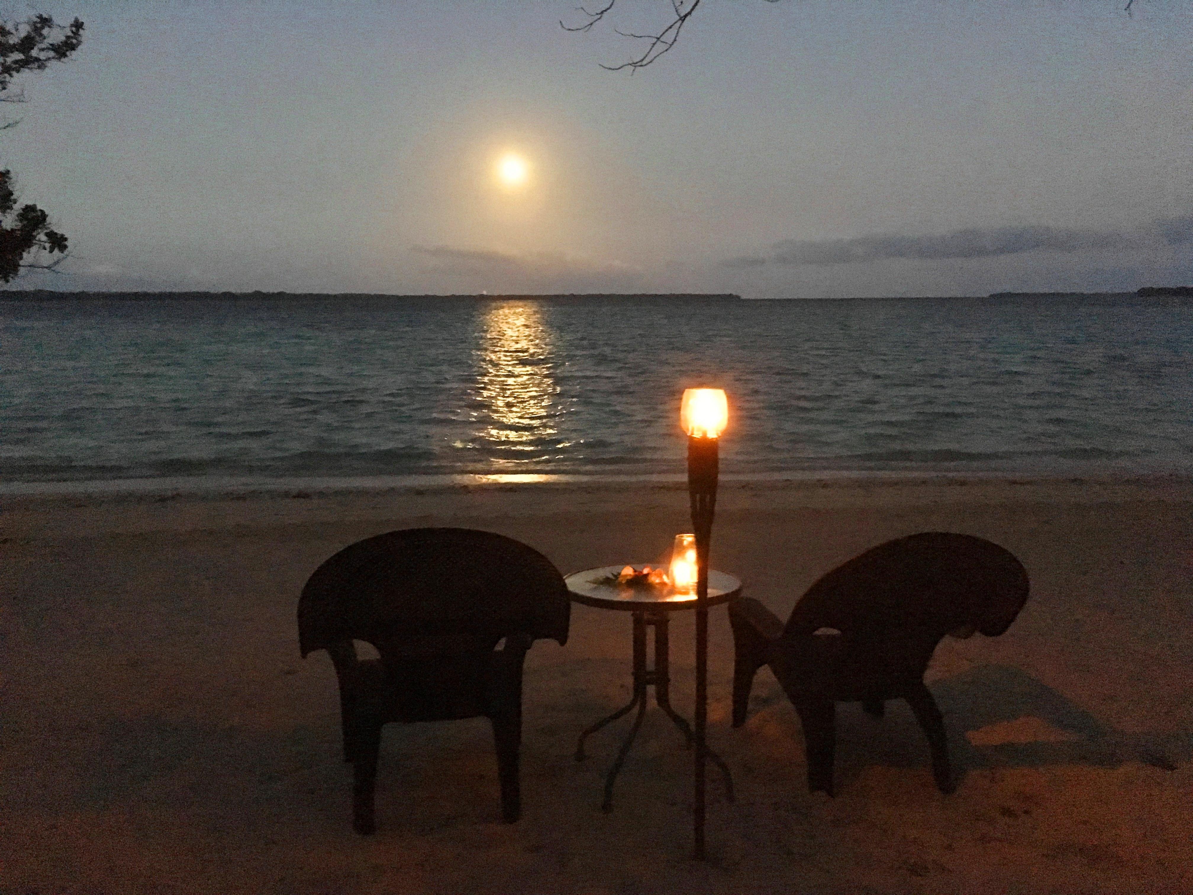 Romantic Dinners, moonlight, firelig