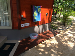 Outdoor Shower at The Hibiscus