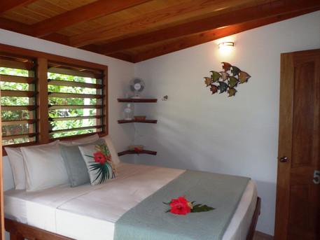 Queen bed in Ensuite Guest Room