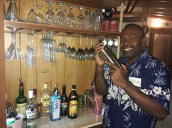 Bartender Fredy mixing it up