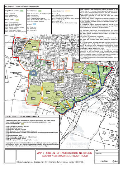 Map 2 -South-Newnham-Infrastructure Netw