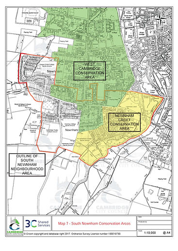 Map 7- South Newnham-Conservation Areas.