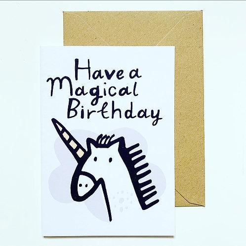 'Magical birthday' greetings card