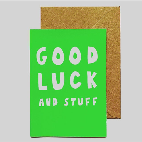 'Good luck' greetings card