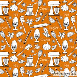 Kitchen Gold Tea Towel wlogo
