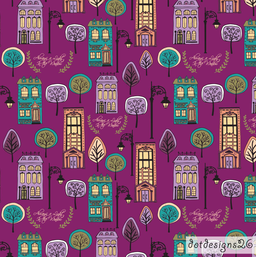 City Slicker Purple Pattern