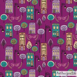 City Slicker Purple Pattern