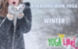 winter season with yoga
