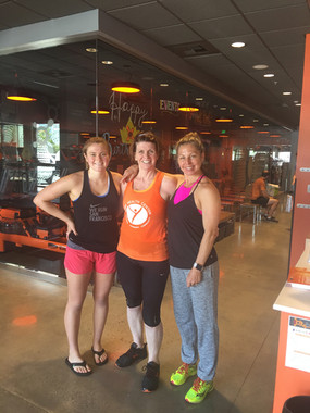 With daughter April & Robin, our  Hot Pilates Sculpt teacher
