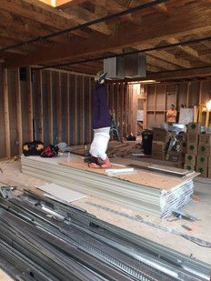 Shoulder stands in Studio 1 during construction. Can't wait to open!