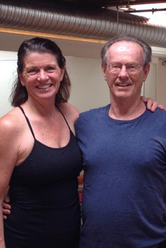 With husband Bob just after opening the new studio